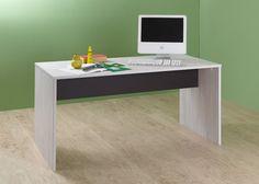 Schreibtisch Cariba Weißeiche und Lavafarbig 10340. Buy now at https://www.moebel-wohnbar.de/schreibtisch-cariba-weisseiche-und-lavafarbig-10340.html