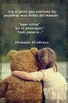 Un abrazo..... #autoayuda