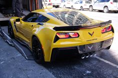 Corvette C7 Z06 Rear End during unloading