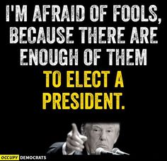 Be very afraid, there seem to be so many ... Get out the vote and Vote Blue - Never Trump!!
