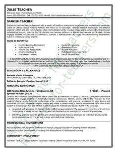 High School Teacher Resume Samples Resume Examples For Teachers. Sample New Teacher  Resume Resume For .