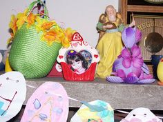 Crafty Moms Share: Family-Made Easter Garland, Mantle and More Egg Ideas