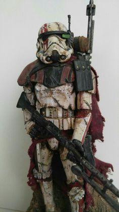 Imperial Shock Trooper with heavy blaster rifle Star Wars Fan Art, Star Wars Clone Wars, Star Trek, Star Wars Pictures, Star Wars Images, Stormtroopers, Cuadros Star Wars, The Dark Side, Star Wars Design