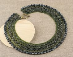 Stylish Green Beaded Necklace by CatchTheBeads on Etsy