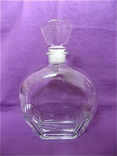 Vintage Italian Glass Decanter by DelicateCreations on Etsy