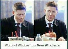 Supernatural is a very wise show Supernatural Destiel, Life Motto, Super Natural, Superwholock, Best Shows Ever, Nerdy, Tv Shows, Fandoms, Jensen Ackles