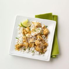 Coconut-Lime Chicken Recipe -Marry tangy lime with sweet coconut and you get this exotic tasting chicken dish. Fragrant jasmine rice is a wonderful accompaniment.—Trisha Kruse, Eagle, Idaho