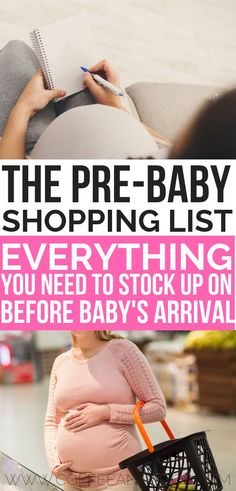 The pre-baby shopping list. Household items you need to stock up on before baby. - The pre-baby shopping list. Household items you need to stock up on before baby's arrival. Baby Must Haves, New Born Must Haves, Baby Registry Must Haves, Before Baby, After Baby, Preparing For Baby, Baby List, Baby Blog, Baby Supplies