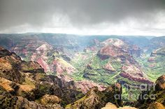 Waimea Canyon, Grand Canyon of the Pacific by Daryl L Hunter Hawaii Landscape, Waimea Canyon, Kauai, Grand Canyon, Wall Art, Beach, Travel, Viajes, The Beach