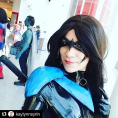 #Repost @kaylynnsyrin Here's a Dick Pic for ya! :P #nightwing #dickgrayson #dc #comic #latex #latexcatsuit #latexcatfish #mask #armor #cosplay #latexcosplay #comicpalooza2017 #comicpalooza #genderbend #grayson #dc #comiccon #con #convention #ardawigs #cute #girl #selfie #instadaily #followme
