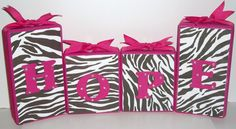 Hot Pink and Zebra w' Ribbon & Bling-Personalize