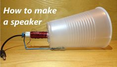 This is actually doable. Nothing crazy complicated and no impossible materials or tools. Informations About How to Make a Speaker Pin You can easily use my Science Projects For Kids, Stem Projects, Science Experiments Kids, Science For Kids, Diy Electronics, Electronics Projects, Techno Gadgets, Electrical Projects, Diy Speakers