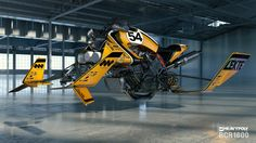 concept ships: Hoverbike in the warehouse by Vaughan Ling