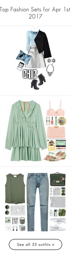 """""""Top Fashion Sets for Apr 1st, 2017"""" by polyvore ❤ liked on Polyvore featuring MSGM, Jeremy Scott, Burberry, Anya Hindmarch, Maybelline, Refresh, Maison Margiela, NARS Cosmetics, Serpui and Ivanka Trump"""