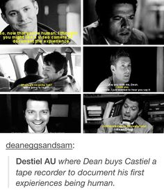 Destiel AU: Also known as the only spn AU to not make me want to rip my heart out