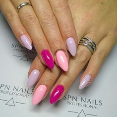 @spnnails ▪ 719 Adore ▪ 730 Baby Baby ▪ 609 Pastel Violet #nails #paznokcie #spnnails #instanails #instamani #paznokciehybrydowe #manicure #mani #nails2inspire #nailstagram #naildesign #nailart #nailsmakeover #kaczerewska #nailac #nailacuv #longnails #маникюр #ногти