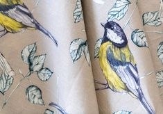 Sold by the metre. Watercolor Fabric, Rachel Reynolds, Great Tit, Pattern Matching, Giclee Print, Flora, How To Draw Hands, Bee