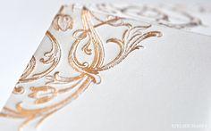 Gold foil detailing