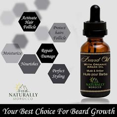 An all-natural Beard Oil made with essential oils. Voted #1 Best Beard Oil. A beard oil that will make your beard smooth and soft. FHA naturally Moroccan Beard Oil contains top-quality Organic, Vegan ingredients that are non-irritating to skin while providing an invigorating aroma. You'll own the Best Beard in Town! #beardoil #beard #bearded #beards #beardbalm #beardgang #beardsofinstagram #beardlife #beardcare #beardstyle #beardlove #beardedmen #barbershop #barber #beardporn #beardman… Facial Hair Growth, Beard Growth Oil, Best Beard Oil, Natural Beard Oil, Oils For Men, Pure Argan Oil, Wrong Time, Beard Grooming, Beard Balm