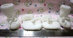 FREE KNIT EASY PREEMIE   BABY BOOTIES PATTERN   KNIT WITH STRAIT NEEDLES   Free pattern for charitable purposes and personal use only.   ... Baby Booties Knitting Pattern, Knit Baby Shoes, Baby Hats Knitting, Crochet Baby Booties, Easy Knitting, Baby Knitting Patterns, Baby Patterns, Knitted Baby, Preemie Babies