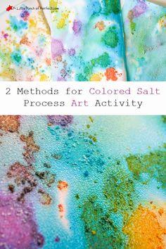 A Little Pinch of Perfect: Process Art: Colored Salt Painting For Kids-an easy way to create textured process art Toddler Art, Toddler Crafts, Crafts For Kids, Salt Painting, Painting For Kids, Painting Art, Kindergarten Art, Preschool Art, Salt Watercolor