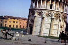 Leaning Photographer of Pisa