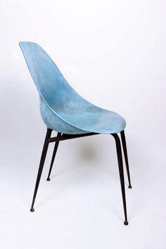 Vintage 50  Italian Design Industrial Shell Chair .Bozzi ,Nobili era