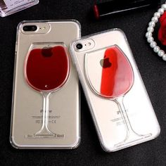 Who doesn`t love wine? Are you ready to be the center of attention? This clear unique  iPhone case is so pretty, yet so protective and elegant! The cover is made to look like a glass of red wine with actual red liquid that splashes around inside the glass of the case, and is perfect for anyone that considers themselves a wine-o.This is the ultimate gift, it`s just PERFECT!     Protects the phone from daily dings and scratches while adding some sparkle. This unique ...