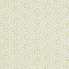 Daisy Spot Wallpaper A wallpaper designed by Emma Bridgewater inspired by the…