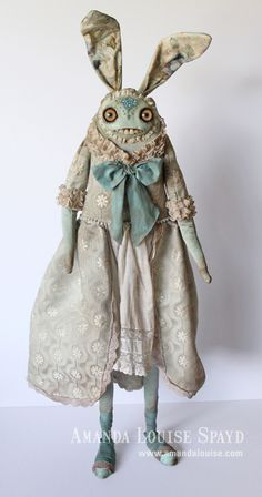 """She is almost 3 feet tall!  For """"Forgotten Finery"""", my solo exhibition at Rivet Gallery. Opens April 7, 2012!  www.rivetgallery.com"""