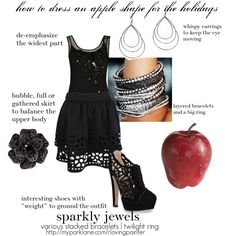 how to dress an apple shape for the holidays