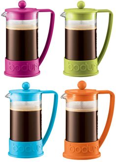 Bodum Brazilian coffee press: a typical, easiest way to make coffee.
