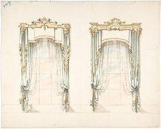 Ornamental Sun Curtains, via Regency Reader. From The Repository of Arts, Literature, Commerce, Manufactures, Fashions and ..., 1814: One can only imagine what they looked like, for alas research could provide no clues! Here are some other pr...