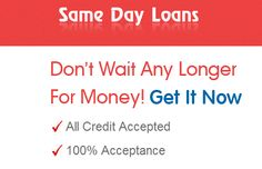 Same day loans are the quickest way for the individual to get the needed amount of monetary backing in order to cover their unexpected cash needs. By the assistance of this cash service borrowers can easily borrow quick funding within a small notice of the time. The amount of cash gained from this financial deal will assist the borrowers to cover their any sort of the financial requirements.