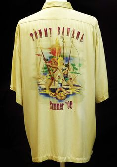 Tommy Bahama Summer  00   soft Mens short sleeve  beach shirt Genuine 115