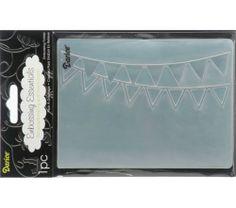 Darice Embossing folders BUNTING 1217-51 banner birthday Cuttlebug Compatible