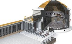 The model of our miniature pantheon