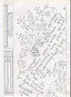 Vivo em Braga já vai para 10 anos, e embora não seja nascida e criada minhota, tenho esta região muito perto do coração. Adoro o verde, as pessoas, a gastronomia e… o artesanato.. Desenvolvi … Embroidery Patterns, Hand Embroidery, Paper Mache, Needlework, Creations, Bullet Journal, Diy Crafts, My Love, Crochet