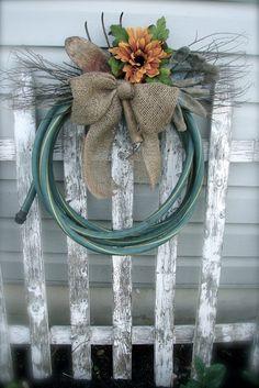 COSMOGIRLS EMPORIUM: Garden Hose Wreath