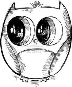 owl draw simple - Hledat Googlem | owl | Pinterest | Cute Easy ...
