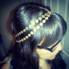 DIY - Gold Chain Headband