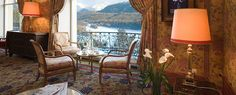 We're dreaming of a white Christmas in the Swiss Alps of course! Palaces, St Moritz, Palace Hotel, Swiss Alps, Stunning View, Switzerland, Dining Chairs, Places To Visit, Hotels