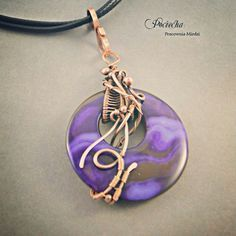 by user # pendant # violet # copper # wirewrapping # jewelrydesign ...