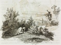 Day before Battle of Jena (14 October 1806), Napoleon Bonaparte escaping fire from French sentry returning to camp after reconnaissance, illustration from first Italian edition of Memorial of Saint Helena, Volume 1, 1842