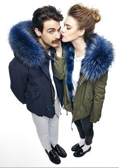 mr & mrs fur military parka 😍 but not liking the idea of its a real fur! 😂😂
