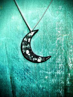Large Crescent Moon dark astro dust galaxy space by TheTamerlane, $17.00