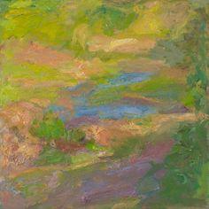 Rautio: Spring at the river Vantaa - Kevät Vantaanjoella, 80x80 cm, oil on canvas, 2001