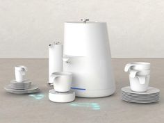 Folks who love to cross tech with traditional are going to adore this MEM-COFFEE Set! Boasting a fully ceramic body, the sheer exterior is devoid of any buttons or panels. Instead a laser projected multi-touch interface allows you to brew your cuppa java delight    http://bit.icoff.ee/K46Uc2