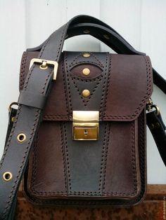Купить Мужская сумка из натуральной кожи № 24 - сумка ручной работы Kelly Bag, Leather Pouch, Leather Men, Urban Bags, Chloe Bag, Side Bags, Messenger Bag Men, Leather Projects, Leather Design