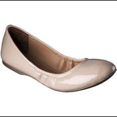 Nude Fold Up Flats Only worn once! Runs a little small. Perfect to put in your purse for emergency shoes after a night out! Mossimo Supply Co. Shoes Flats & Loafers